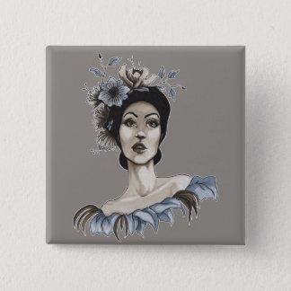 Chapa Mujer con Flores - María