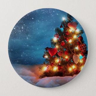 Chapa Redonda De 10 Cm Árbol de navidad - decoraciones del navidad -