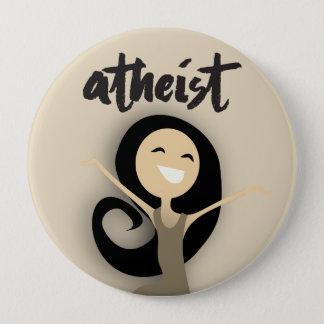 Chapa Redonda De 10 Cm Ateo feliz