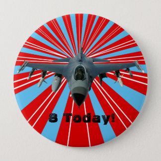 Chapa Redonda De 10 Cm Avión de combate
