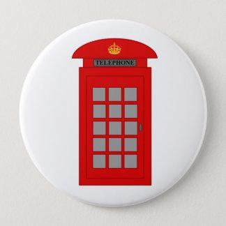 Chapa Redonda De 10 Cm Cabina de teléfonos británica