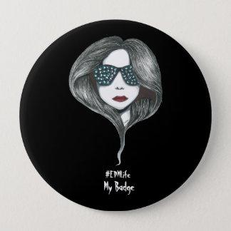 Chapa Redonda De 10 Cm Chica de EDM