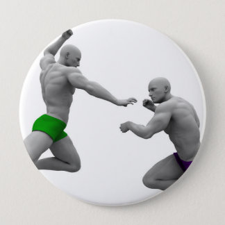 Chapa Redonda De 10 Cm Concepto de los artes marciales para luchar y la