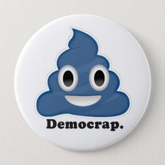 Chapa Redonda De 10 Cm Democrap Emoji