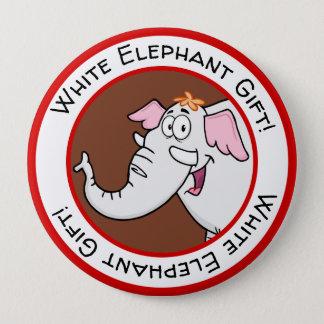 Chapa Redonda De 10 Cm Dibujo animado del intercambio del elefante blanco