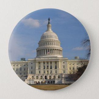 Chapa Redonda De 10 Cm Edificio de Capitol Hill del Washington DC