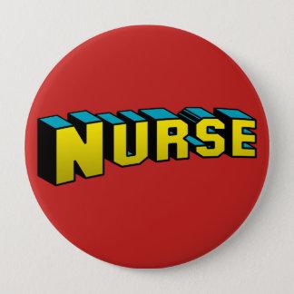 Chapa Redonda De 10 Cm Enfermera estupenda