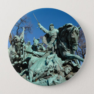 Chapa Redonda De 10 Cm Estatua de la guerra civil en Washington DC