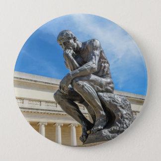 Chapa Redonda De 10 Cm Estatua del pensador de Rodin