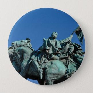 Chapa Redonda De 10 Cm Estatua del soldado de la guerra civil en