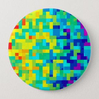 Chapa Redonda De 10 Cm Fondo inconsútil del modelo del pixel como