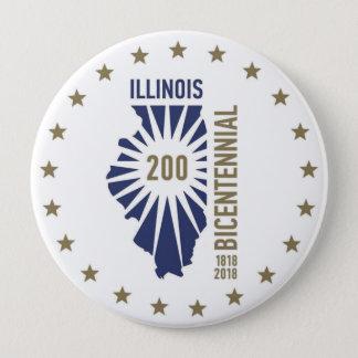 Chapa Redonda De 10 Cm Illinois 1818-2018 bicentenario