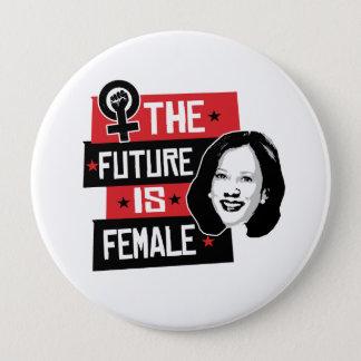 Chapa Redonda De 10 Cm Kamala hace - el futuro es femenino -