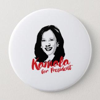 Chapa Redonda De 10 Cm Kamala para el presidente - caligrafía -