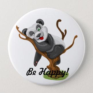 Chapa Redonda De 10 Cm Lindo sea panda feliz