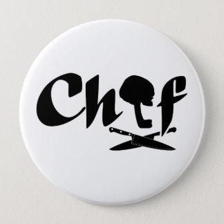 Chapa Redonda De 10 Cm Logotipo del cocinero