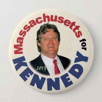 Chapa Redonda De 10 Cm Massachusetts para (Ted) Kennedy (Jr.)