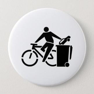 Chapa Redonda De 10 Cm Monte una bici no un coche