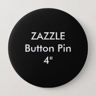 """Chapa Redonda De 10 Cm Personalizado en blanco 4"""" de Zazzle NEGRO enorme"""