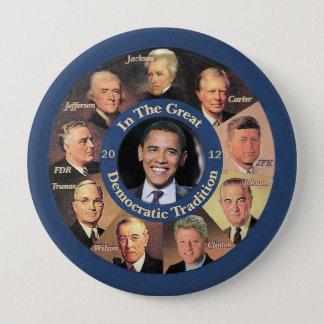 Chapa Redonda De 10 Cm Presidente Obama 2012