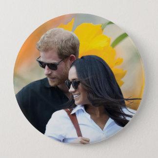 Chapa Redonda De 10 Cm Príncipe Harry y Meghan Markle