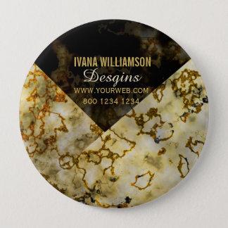 Chapa Redonda De 10 Cm Profesional agrietado Marbleized del oro que vetea