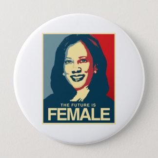 Chapa Redonda De 10 Cm Propaganda de Kamala Harris - el futuro es
