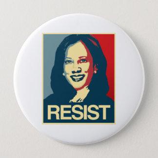 Chapa Redonda De 10 Cm Propaganda de Kamala Harris - RESISTA -