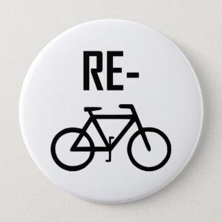 Chapa Redonda De 10 Cm Recicle la bici de la bicicleta
