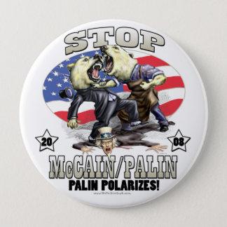 Chapa Redonda De 10 Cm Sarah Palin polariza el engranaje