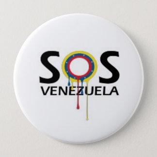 Chapa Redonda De 10 Cm SOS Venezuela