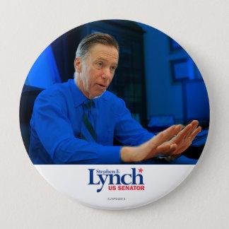 Chapa Redonda De 10 Cm Stephen Lynch para el senado