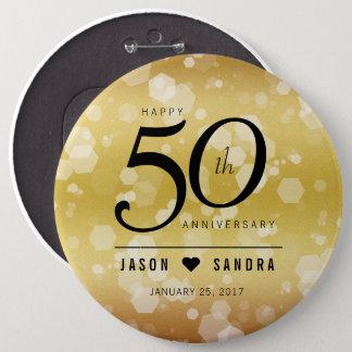 Chapa Redonda De 15 Cm 50.o aniversario de boda de oro elegante