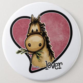 Chapa Redonda De 15 Cm Amante del caballo