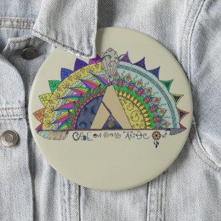 Chapa Redonda De 15 Cm Ambiente hacia fuera con mi de la tribu arco iris