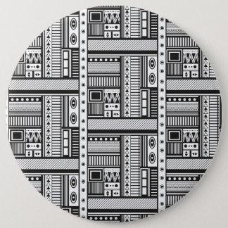 Chapa Redonda De 15 Cm Arte étnico del modelo del extracto del estilo