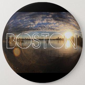 Chapa Redonda De 15 Cm Boston MA