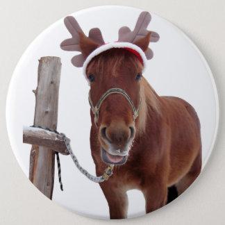 Chapa Redonda De 15 Cm Ciervos del caballo - caballo del navidad -