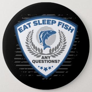 Chapa Redonda De 15 Cm Coma los pescados del sueño cualquier pesca de las