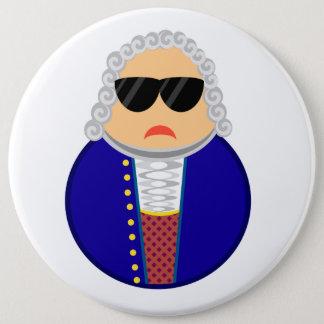 Chapa Redonda De 15 Cm Compositor divertido de Johann Sebastian Bach