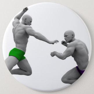 Chapa Redonda De 15 Cm Concepto de los artes marciales para luchar y la