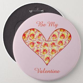 Chapa Redonda De 15 Cm Corazón por completo del Pin de la tarjeta del día