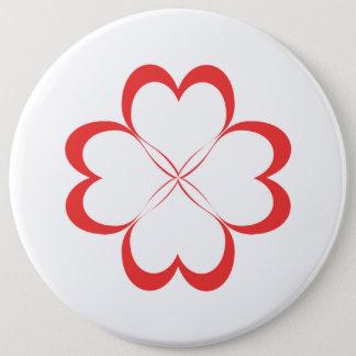Chapa Redonda De 15 Cm ¡Cuatro corazones!