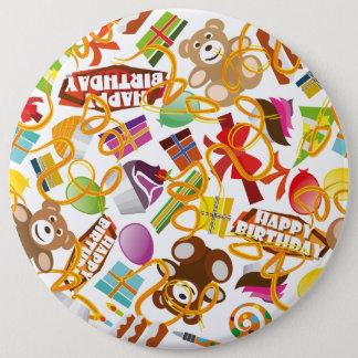 Chapa Redonda De 15 Cm Ejemplo del modelo del feliz cumpleaños
