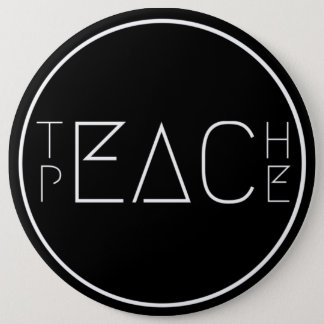Chapa Redonda De 15 Cm Enseñe a la paz