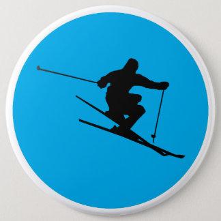 Chapa Redonda De 15 Cm Esquiador