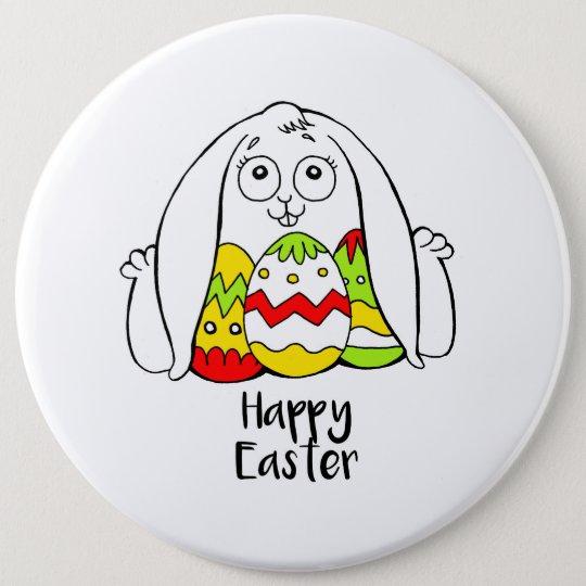 Chapa Redonda De 15 Cm Happy Easter