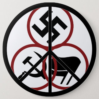Chapa Redonda De 15 Cm Insignia de la paz