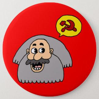 Chapa Redonda De 15 Cm Karl Marx