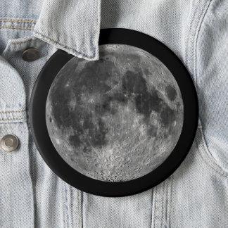 Chapa Redonda De 15 Cm La luna de la tierra en jumbo del espacio exterior